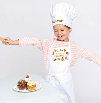 Weihnachtsbäckereiset   Schürze & Kochmütze mit NAME