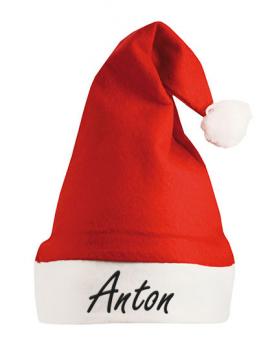 Weihnachtsmütze   mit Stickwunschtext