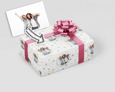 Geschenkpapier mit Deinem Wunschbild  