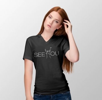 "T-Shirt LADY V-Neck | ""SEE YOU"""