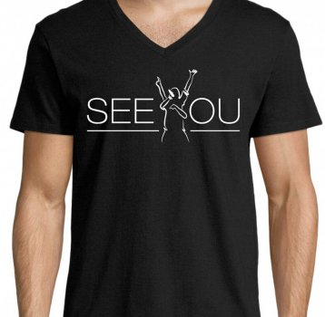 "T-Shirt Deep-V-Neck | ""SEE YOU"""